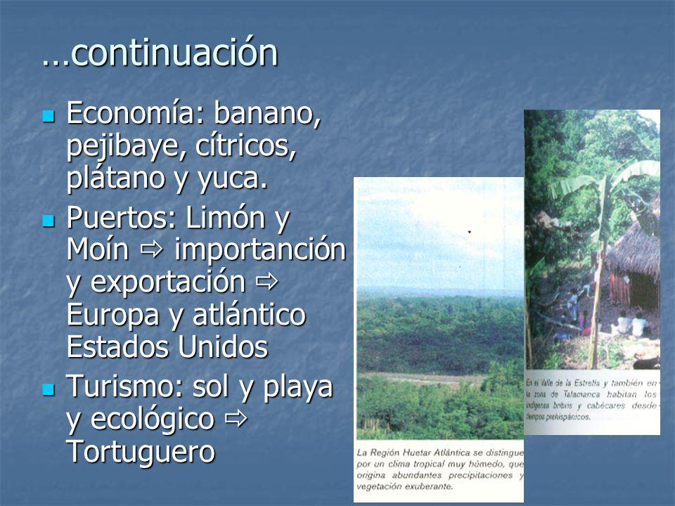 …continuación Antes: dependencia plantación bananera y de cacao Antes: dependencia plantación bananera y de cacao Vía de comunicación: ferrocarril y a