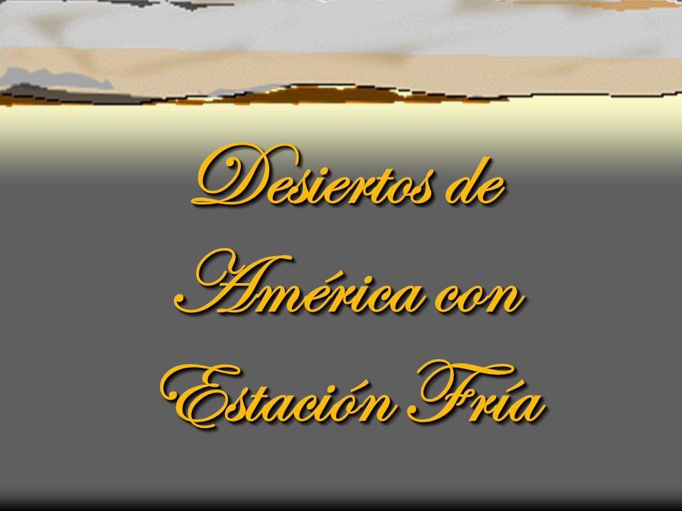 Desiertos de América con Estación Fría