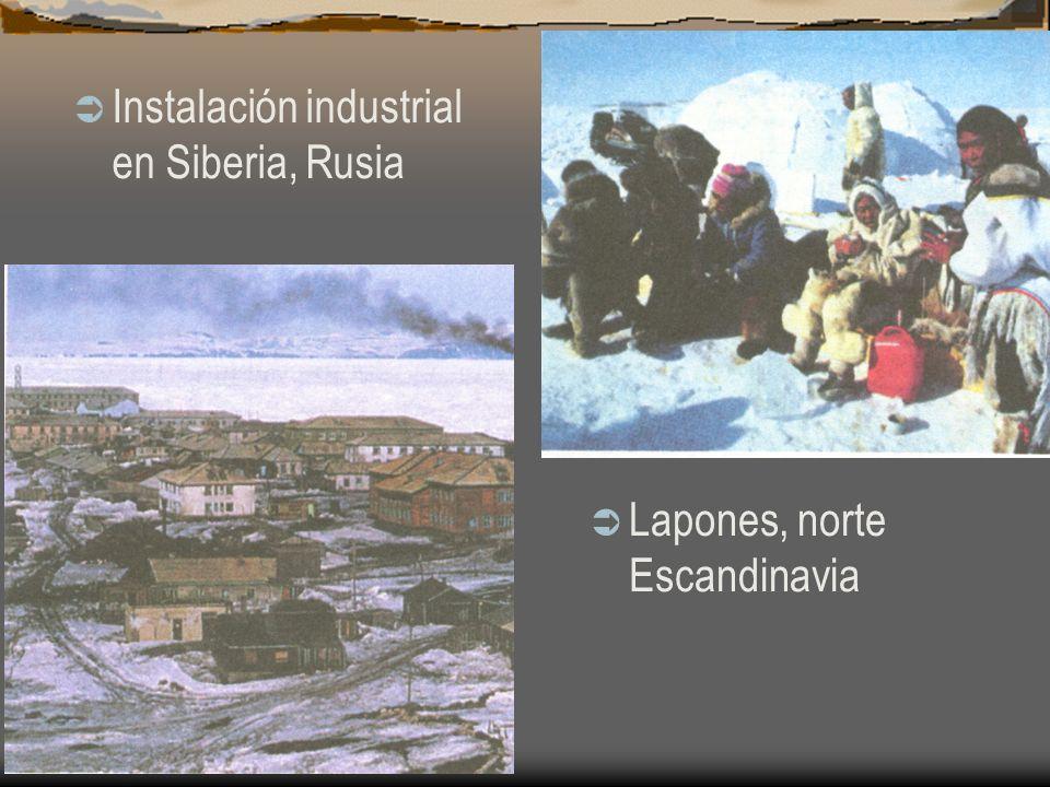 Instalación industrial en Siberia, Rusia Lapones, norte Escandinavia