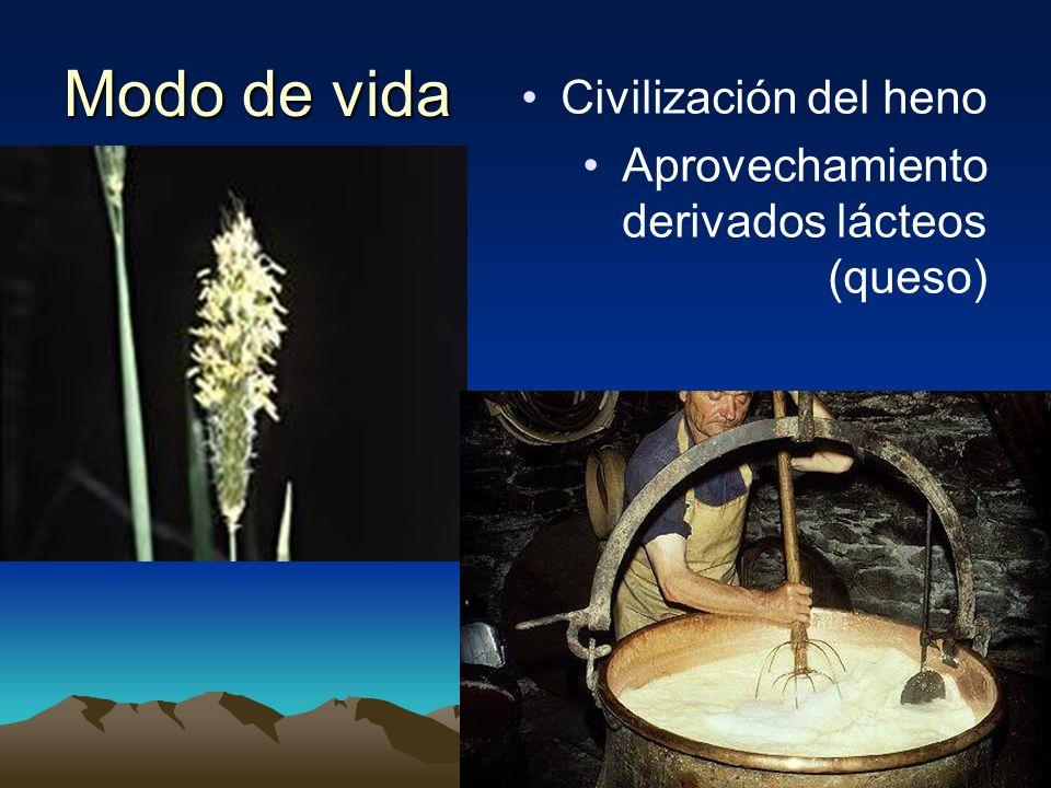 Modo de vida Civilización del heno Aprovechamiento derivados lácteos (queso)