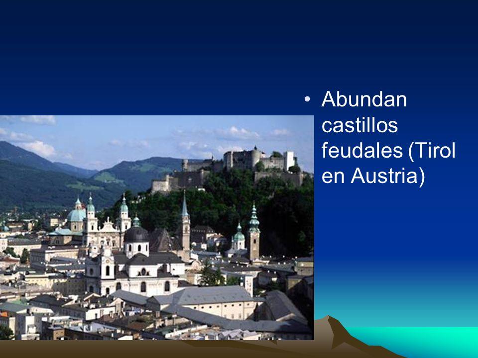 Abundan castillos feudales (Tirol en Austria)