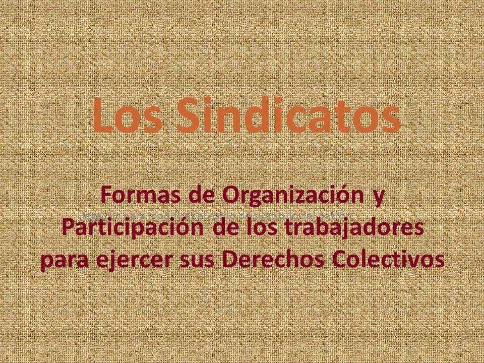 Haga clic para modificar el estilo de subtítulo del patrón Formas de Organización y Participación de los trabajadores para ejercer sus Derechos Colect