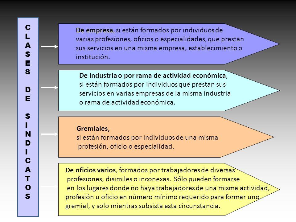 De empresa, De empresa, si están formados por individuos de varias profesiones, oficios o especialidades, que prestan sus servicios en una misma empre