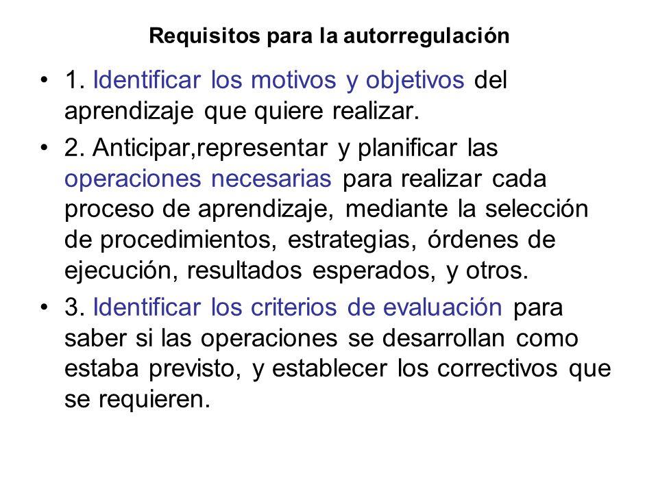 Requisitos para la autorregulación 1.