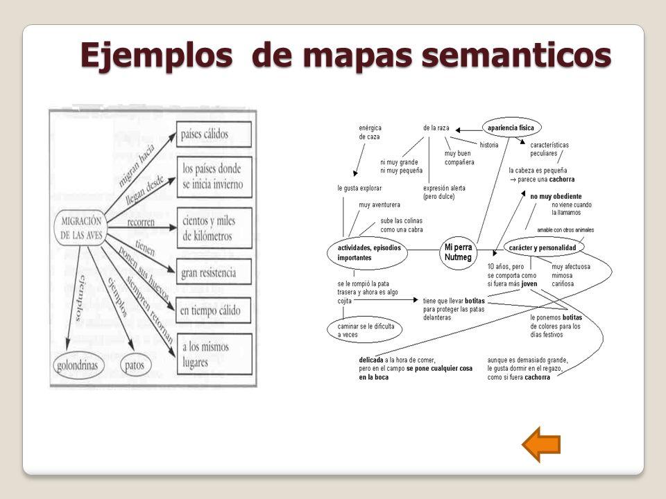 Ejemplos de mapas semanticos