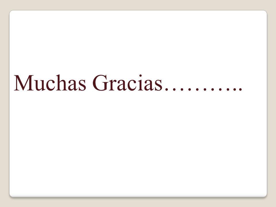 Muchas Gracias………..