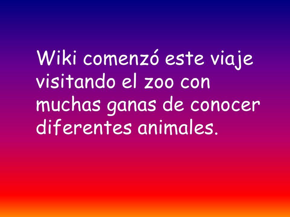 Wiki comenzó este viaje visitando el zoo con muchas ganas de conocer diferentes animales.