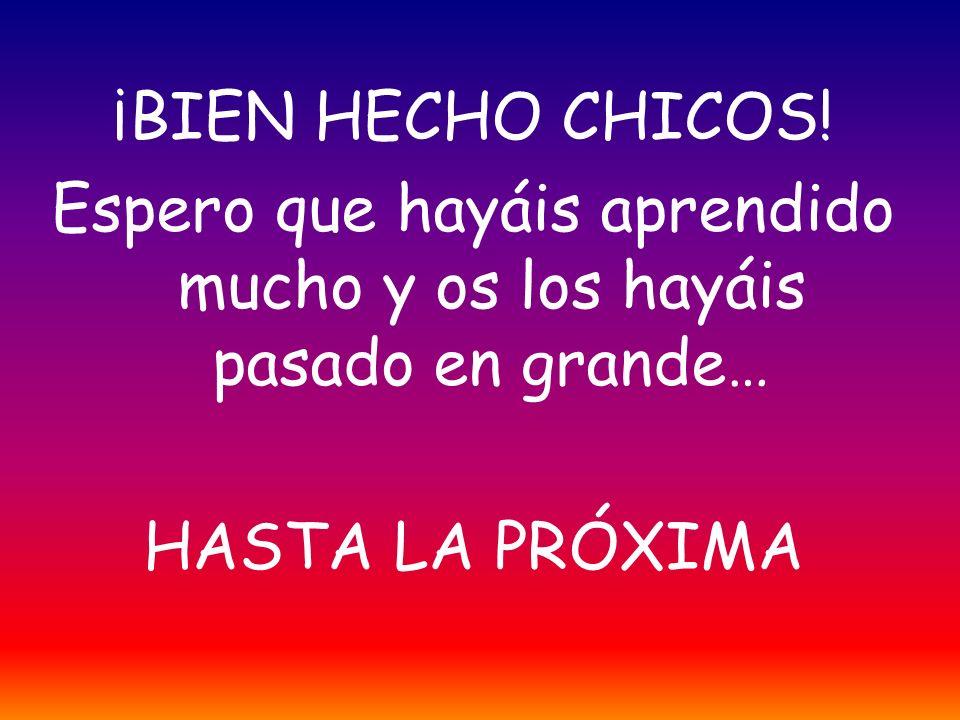 ¡BIEN HECHO CHICOS.