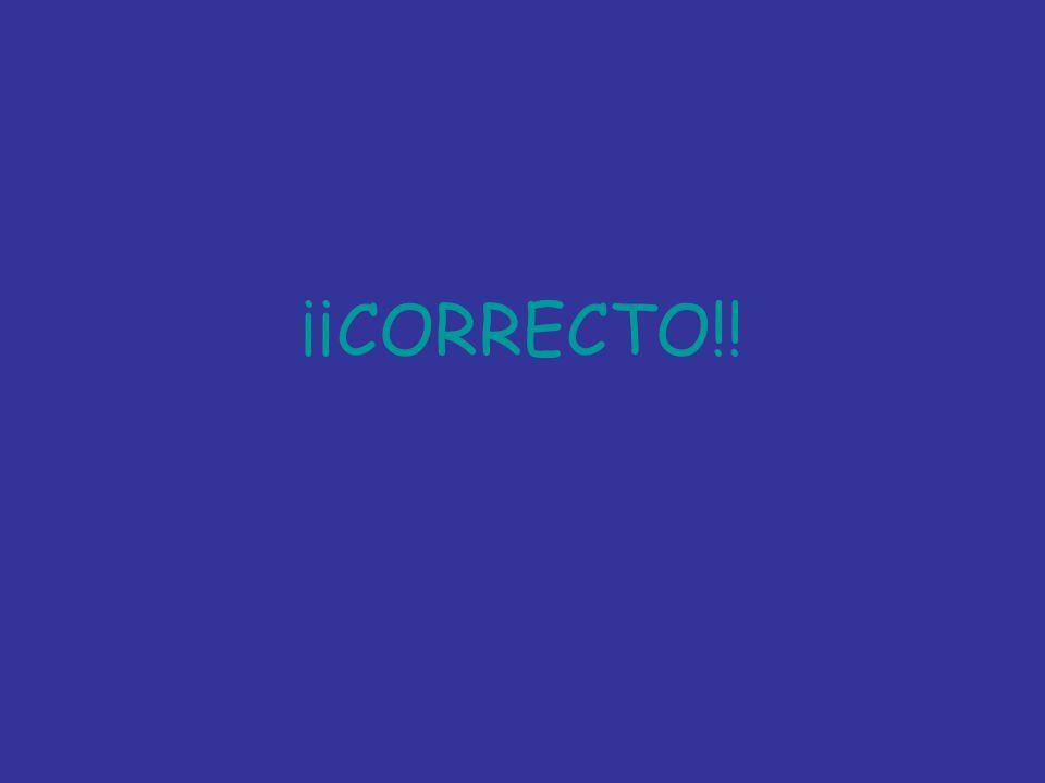 ¡¡CORRECTO!!