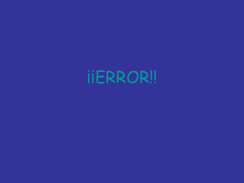 ¡¡ERROR!!