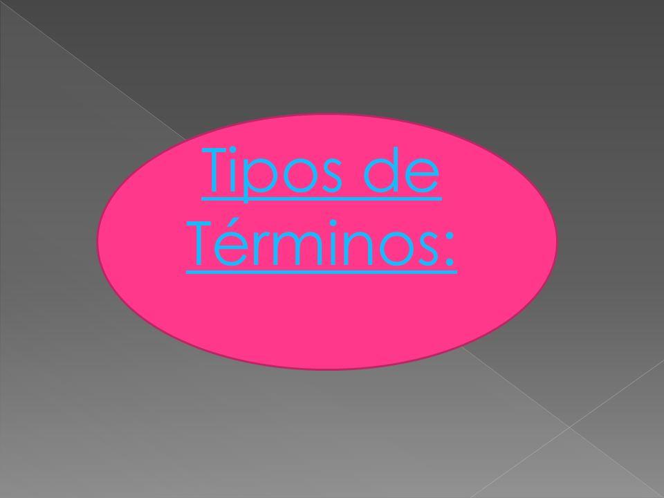 Tipos de Términos: