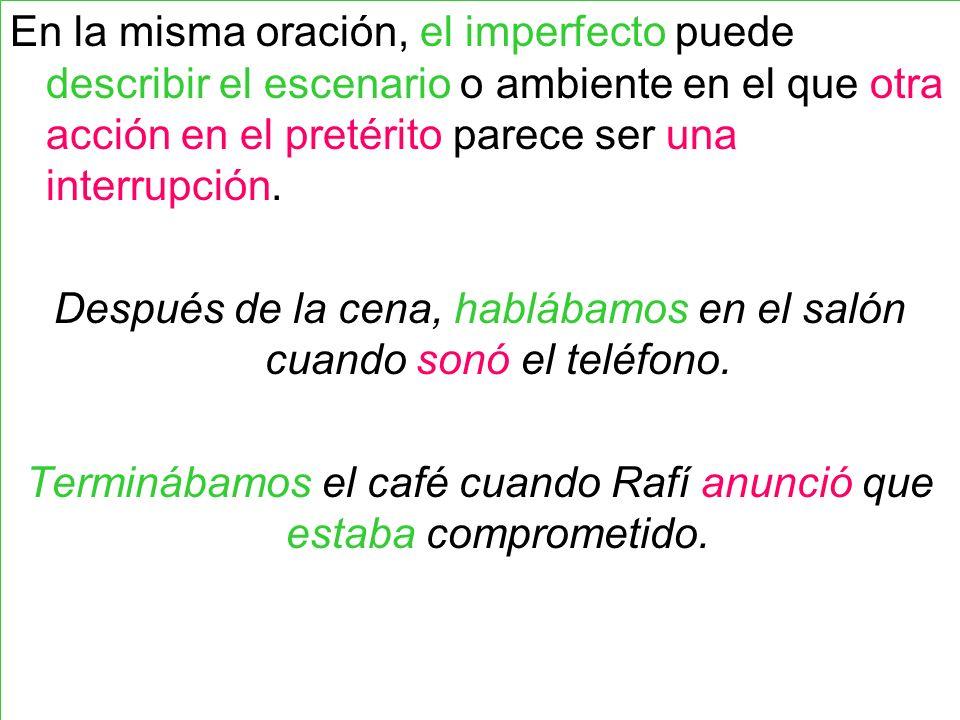 Como resultado de la diferencia entre el pretérito y el imperfecto, algunos verbos se traducen al inglés usando palabras diferentes.