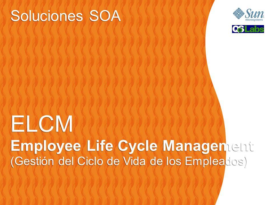 Soluciones SOA ELCM Employee Life Cycle Management (Gestión del Ciclo de Vida de los Empleados) Soluciones SOA ELCM Employee Life Cycle Management (Gestión del Ciclo de Vida de los Empleados)