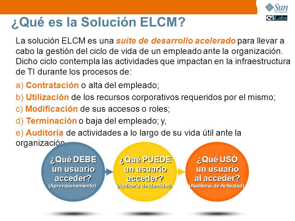 ¿Qué es la Solución ELCM? La solución ELCM es una suite de desarrollo acelerado para llevar a cabo la gestión del ciclo de vida de un empleado ante la
