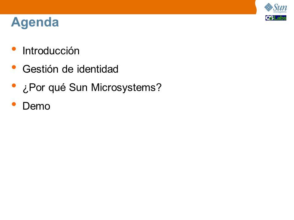 Agenda Introducción Gestión de identidad ¿Por qué Sun Microsystems? Demo