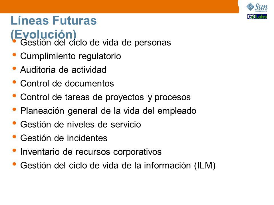 Líneas Futuras (Evolución) Gestión del ciclo de vida de personas Cumplimiento regulatorio Auditoria de actividad Control de documentos Control de tare