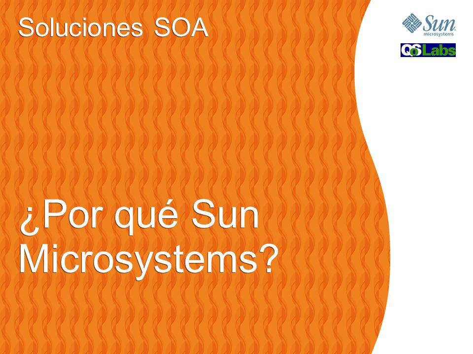 Soluciones SOA ¿Por qué Sun Microsystems? Soluciones SOA ¿Por qué Sun Microsystems?