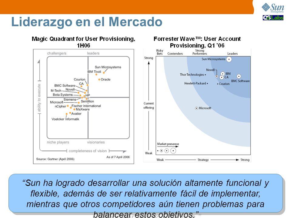 Packaged Liderazgo en el Mercado Sun ha logrado desarrollar una solución altamente funcional y flexible, además de ser relativamente fácil de implementar, mientras que otros competidores aún tienen problemas para balancear estos objetivos.