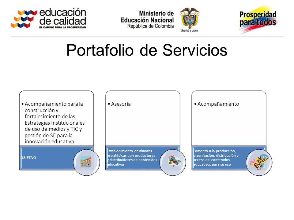Portafolio de Servicios Acompañamiento para la construcción y fortalecimiento de las Estrategias Institucionales de uso de medios y TIC y gestión de S