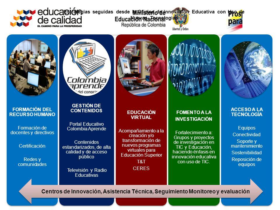 OBJETIVOS Mejorar la capacidad de los establecimientos educativos y las entidades prestadoras del servicio educativo para innovar en sus prácticas edu