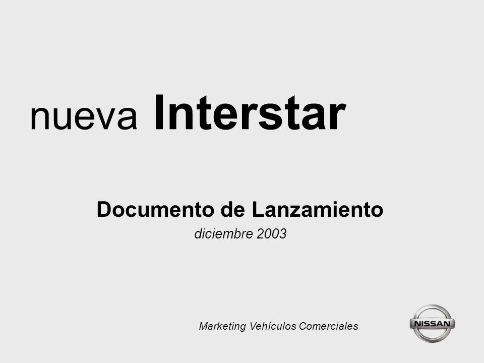 nueva Interstar Documento de Lanzamiento diciembre 2003 Marketing Vehículos Comerciales