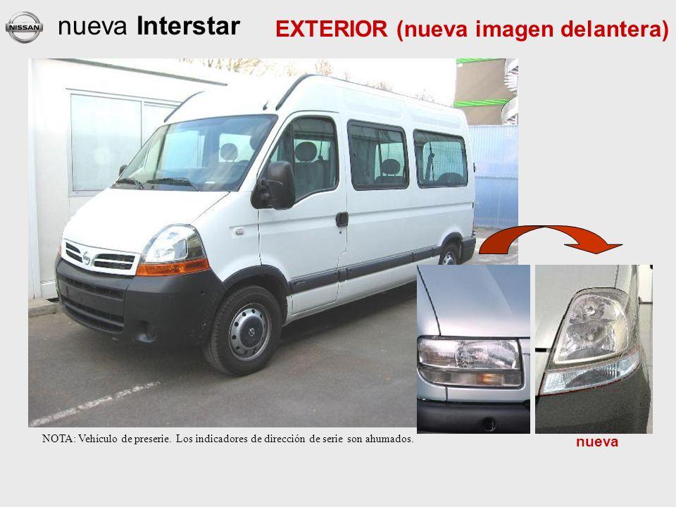nueva Interstar EXTERIOR (nueva imagen delantera) nueva NOTA: Vehículo de preserie.