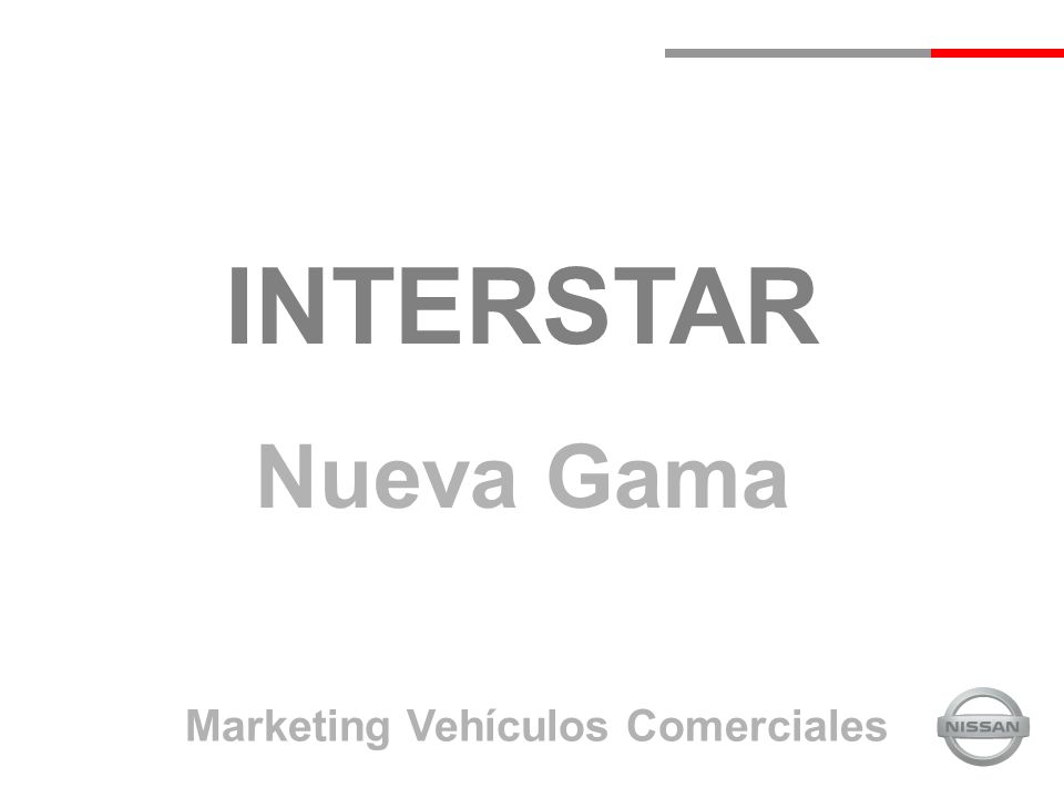 INTERSTAR Nueva Gama Marketing Vehículos Comerciales