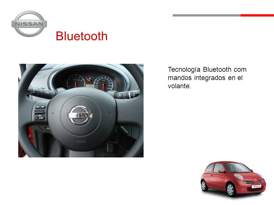 Bluetooth Tecnología Bluetooth com mandos integrados en el volante.