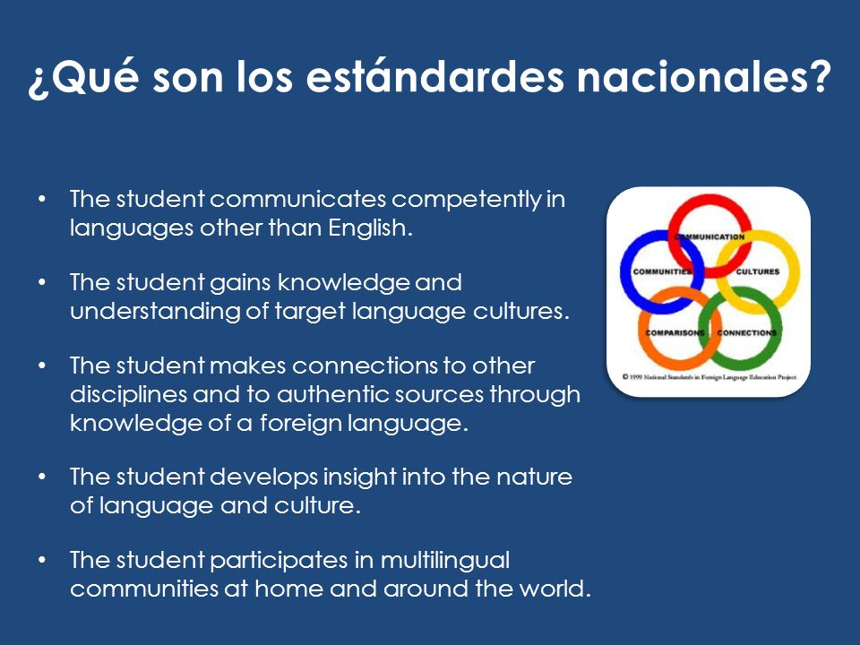 Presentacional Comunicación 5.2 Students show evidence of becoming life-long learners by using the language for personal enjoyment and enrichment.