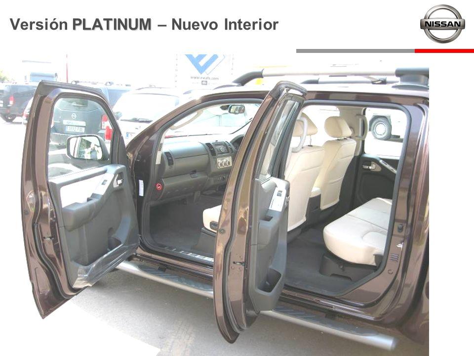 PLATINUM Versión PLATINUM – Nuevo Interior