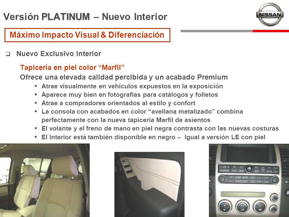 Nuevo Exclusivo Interior Tapicería en piel color Marfil Ofrece una elevada calidad percibida y un acabado Premium Atrae visualmente en vehículos expue