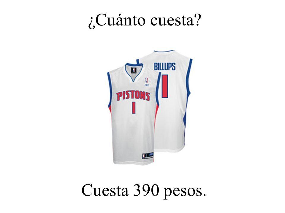 ¿Cuánto cuesta Cuesta 390 pesos.
