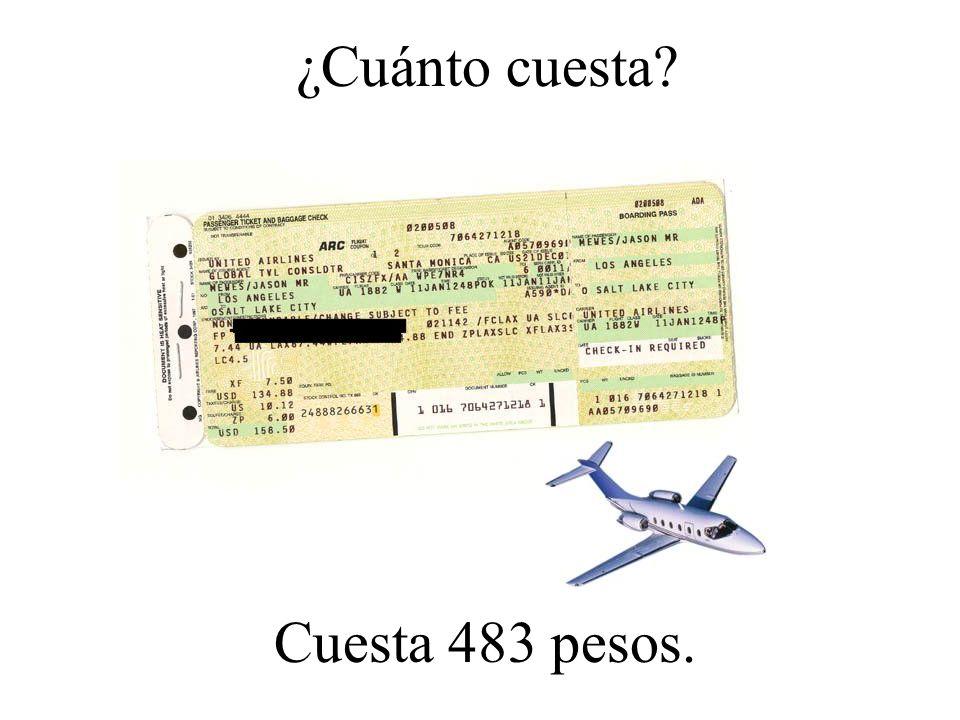 ¿Cuánto cuesta Cuesta 483 pesos.