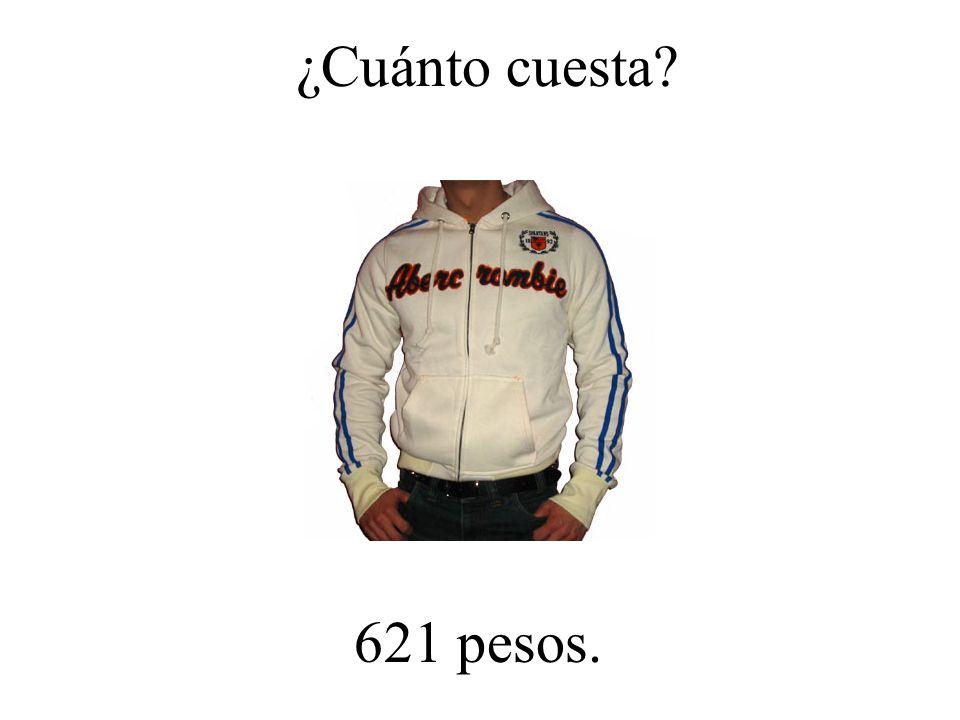 ¿Cuánto cuesta 621 pesos.