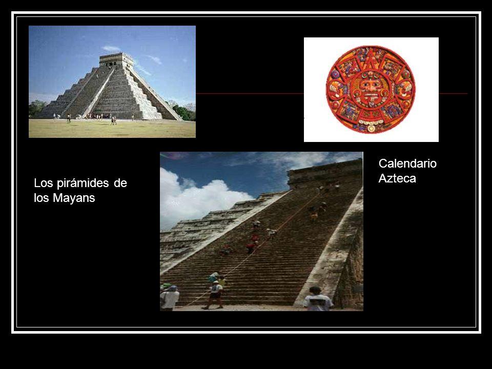 Los pirámides de los Mayans Calendario Azteca
