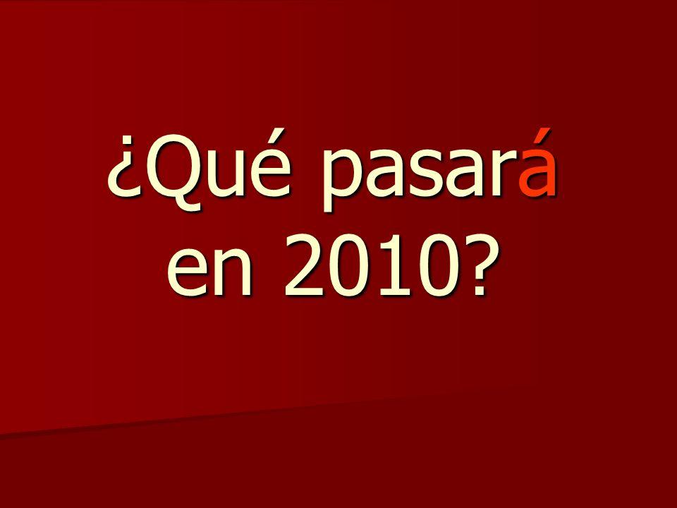 ¿Qué pasará en 2010?
