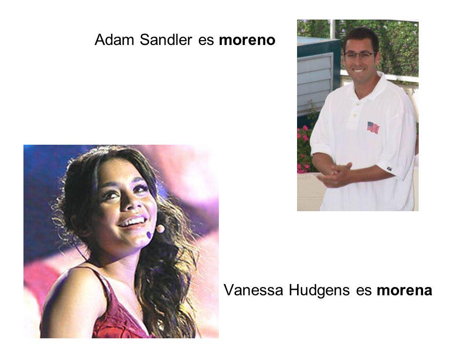 Vanessa Hudgens es morena Adam Sandler es moreno