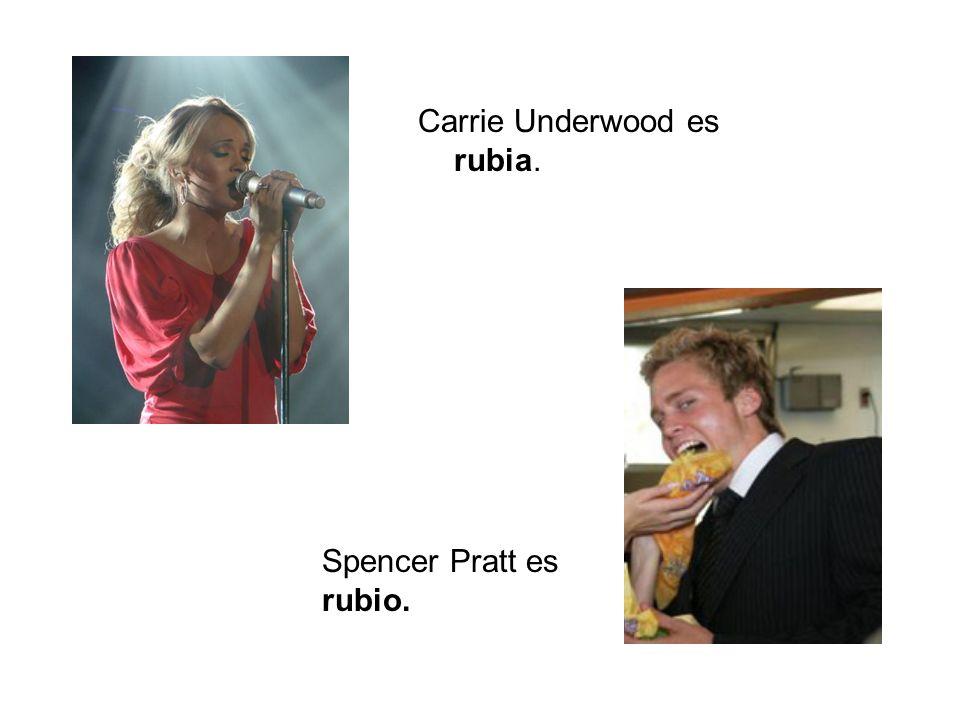 Spencer Pratt y Heidi Montag son rubios.Lauren Conrad, Whitney Port, y Stephanie Pratt son rubias.