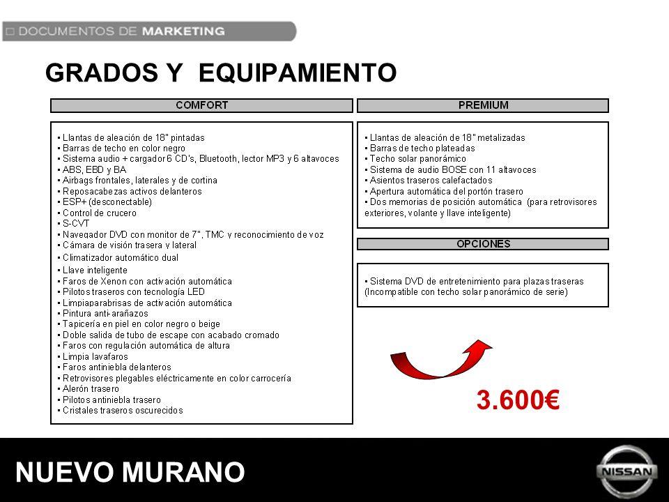 GRADOS Y EQUIPAMIENTO 3.600 NUEVO MURANO