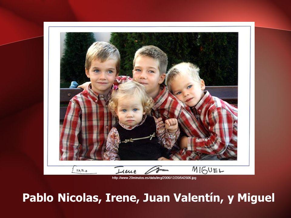 Pablo Nicolas, Irene, Juan Valentín, y Miguel http://www.20minutos.es/data/img/2006/12/20/542506.jpg