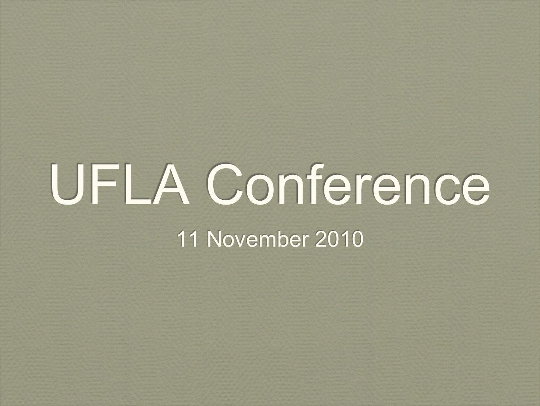 UFLA Conference 11 November 2010