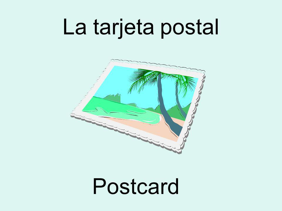La tarjeta postal Postcard