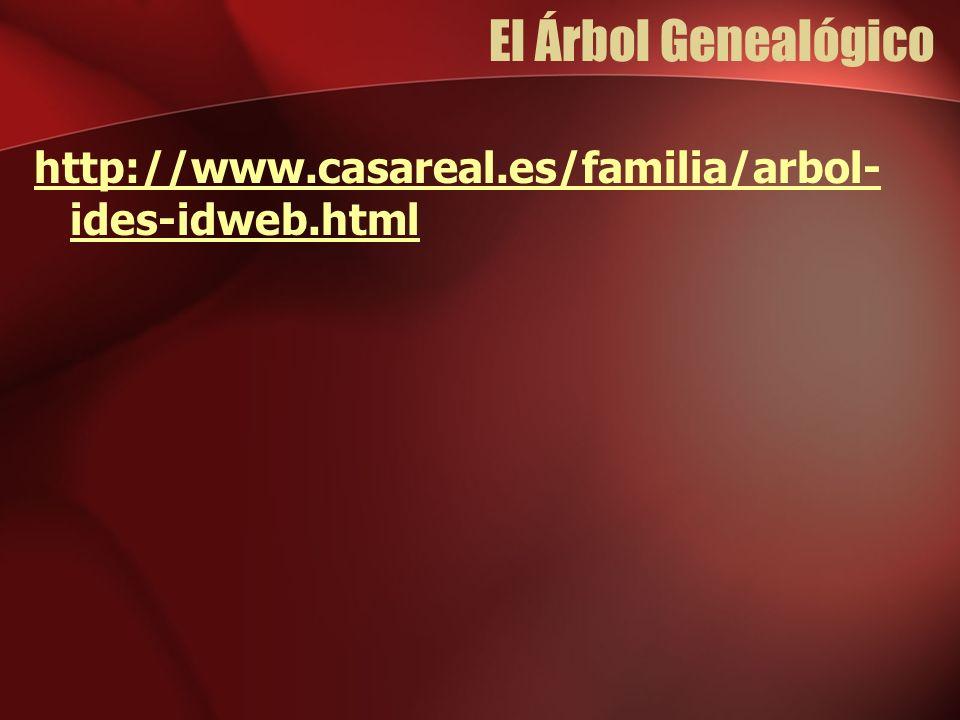 El Árbol Genealógico http://www.casareal.es/familia/arbol- ides-idweb.html
