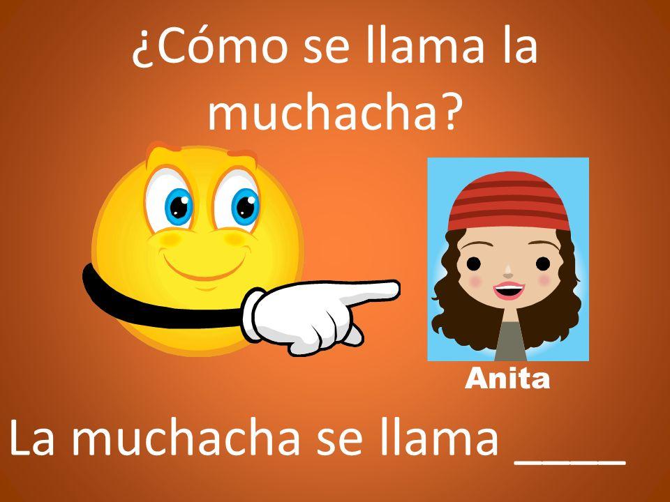 La muchacha es _________ Anita ¿Quién es la muchacha?