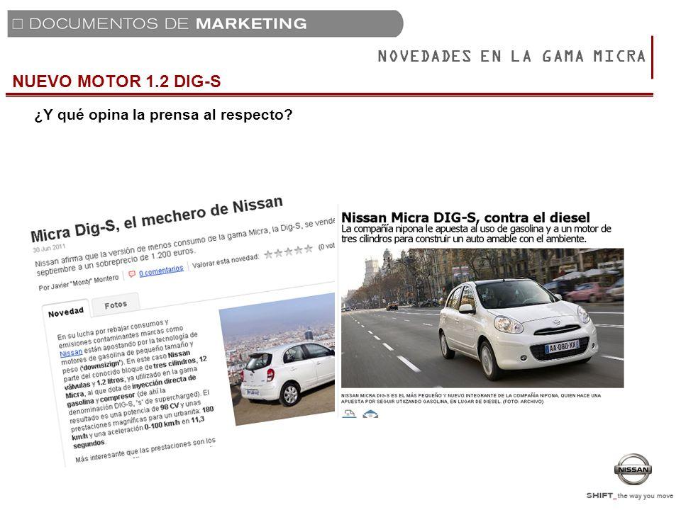 NOVEDADES EN LA GAMA MICRA EQUIVALENCIA CODIGOS COMERCIALES (SÓLO MOTOR 1.2G) Únicos Códigos comerciales que cambian Efectivos a partir de producciones de 1 de Agosto 2011