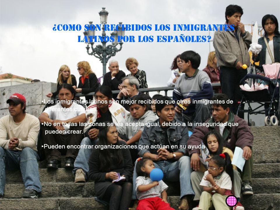¿COMO SON RECIBIDOS los inmigrantes Latinos POR LOS ESPAÑOLES.