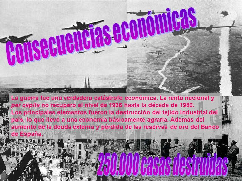 La guerra trajo consigo la recuperación de la hegemonía económica y social por parte de la oligarquía terrateniente, industrial y financiera.