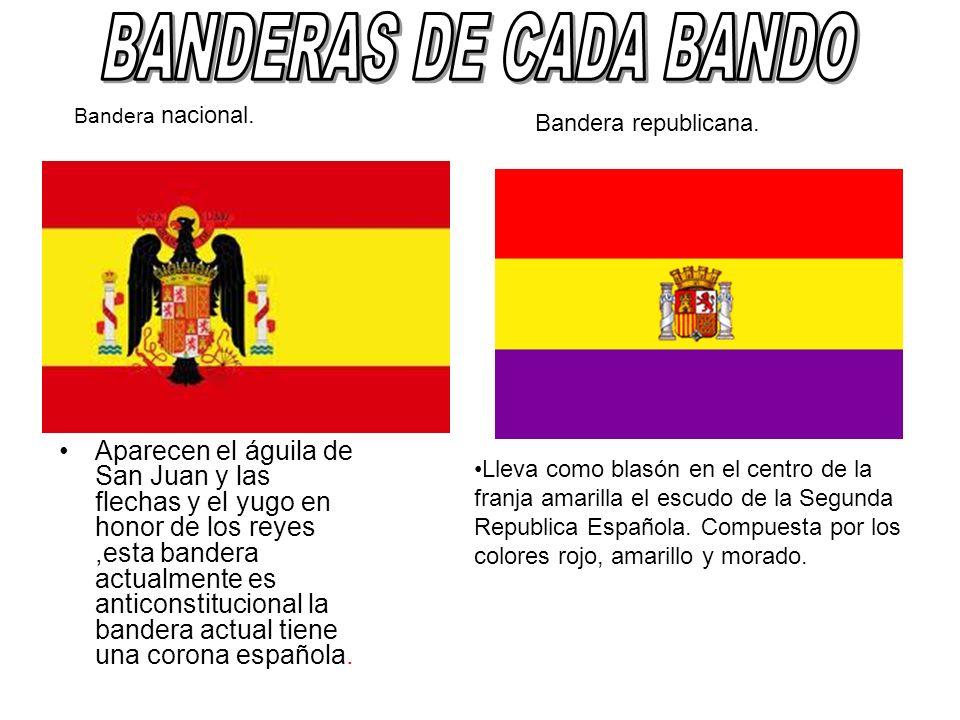 Lleva como blasón en el centro de la franja amarilla el escudo de la Segunda Republica Española. Compuesta por los colores rojo, amarillo y morado. Ap