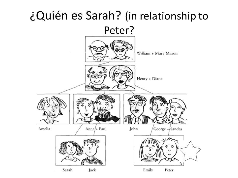 ¿Quién es Sarah (in relationship to Peter