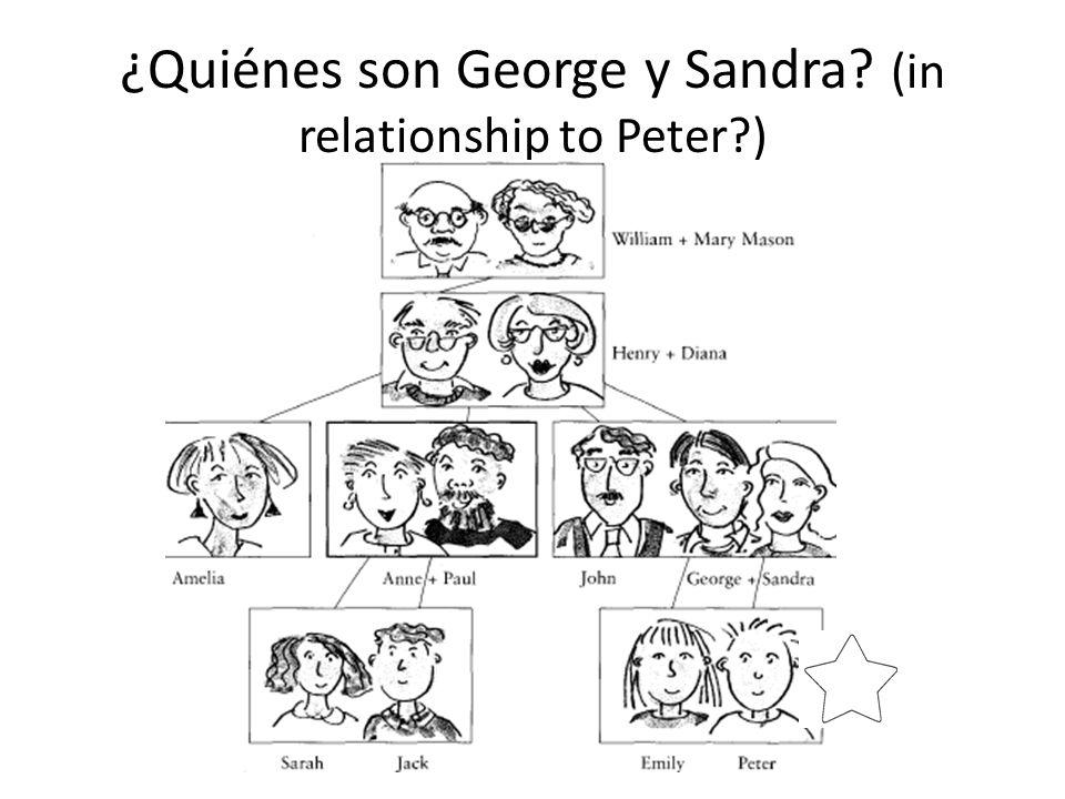 ¿Quiénes son George y Sandra (in relationship to Peter )